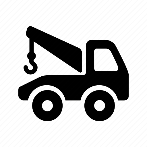 auto, automobile, car, crain, garage, servicing, vehicle icon