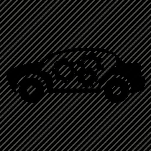 auto, automobile, car, car setting, garage, servicing, vehicle icon