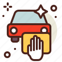 car, clean, hand, vehicle, wash icon