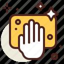clean, hand, sponge, vehicle icon