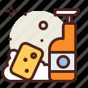 clean, soap, sponge, vehicle icon