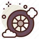 clean, cleaning, tire, vehicle icon