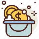 bucket, clean, vehicle, wash icon