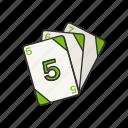 game, cards, uno, card game, uno cards, three uno card, card deck icon