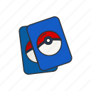 card deck, card game, card games, cards, games, pokemon icon
