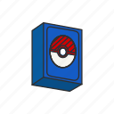 card deck, card game, cards, game, pokemon, pokemon card box icon