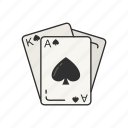 game, cards, card game, ace of spades, king of spades, spades, card deck icon