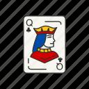 card, card deck, card games, clubs, games, queen, queen of clubs icon
