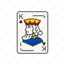 card, card deck, card games, clubs, games, king, king of clubs icon