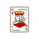 games, diamond, card games, card, card deck, king, king of diamonds icon