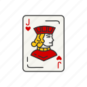 card, card deck, card games, games, heart, jack, jack of hearts icon