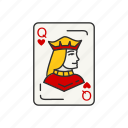 card games, games, queen, hearts, card, card deck, queen of hearts icon
