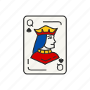 card, card deck, card game, playing card, queen, queen of spades, spades icon