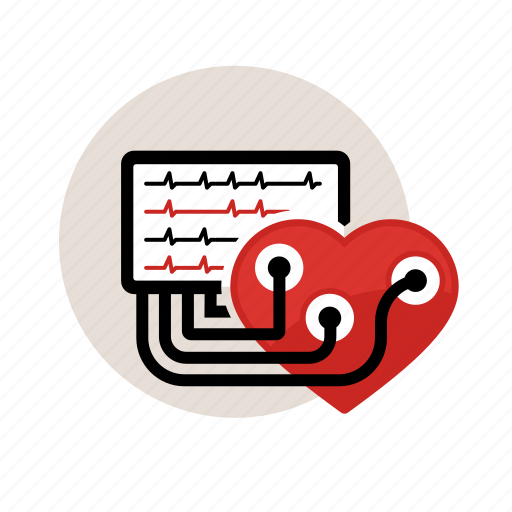 check, ecg, electrodes, heart, hospital, monitor, test icon