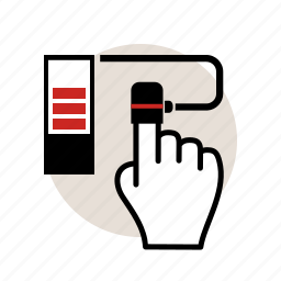 blood, chemistry, experiment, hand, level, oxygen, test icon