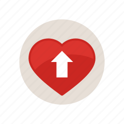 arrow, blood, direction, heart, pressure, rate, up icon