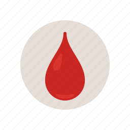 blood, color, drip, empty, health, red, type icon