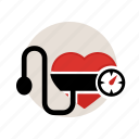 bloodpresure, check, disease, heart, high, low, sign icon