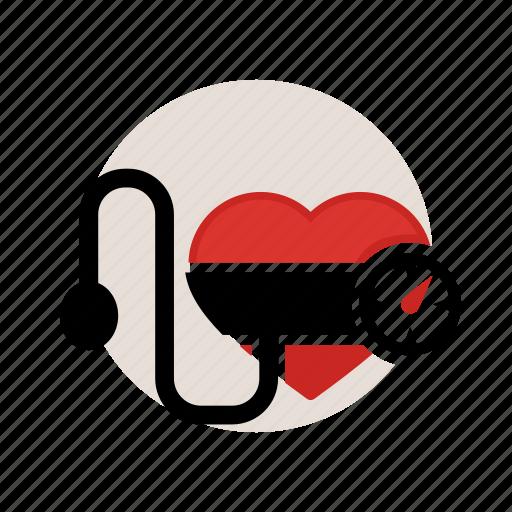 bloodpresure, check, disease, heart, high, low, sign icon