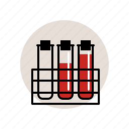 blood, chemistry, laboratory, rack, sample, test, tubes icon