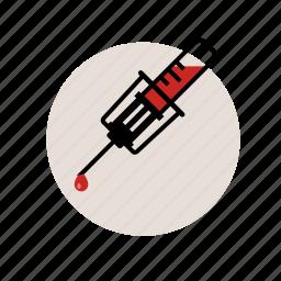 blood, health, healthcare, medicine, neelde, test, vacuum icon