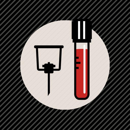 blood, collection, laboratory, neelde, sample, tube, vacuum icon