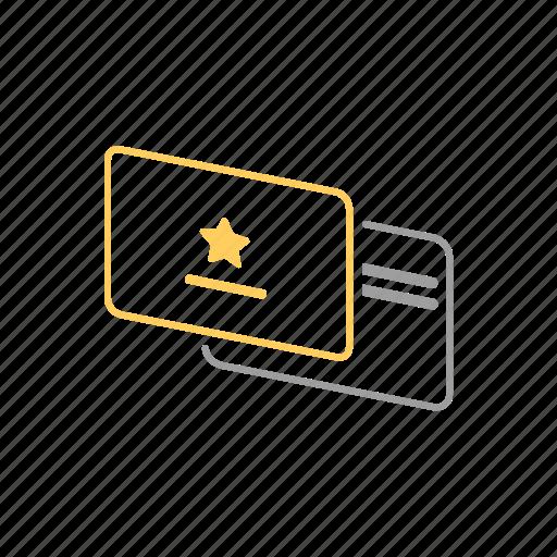 card, vip icon