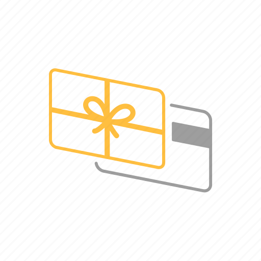 card, gift, payment, shopping icon