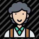 assistant, clerk, customer, data, secretary icon