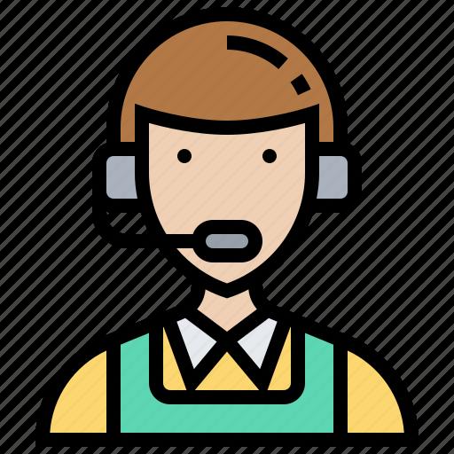 assistant, consultant, customer, operator, service icon