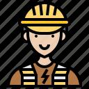 electrician, handyman, service, technician, worker icon