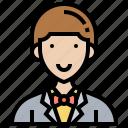 director, entrepreneur, executive, owner, partner icon