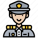 authority, officer, police, security, sergeant icon