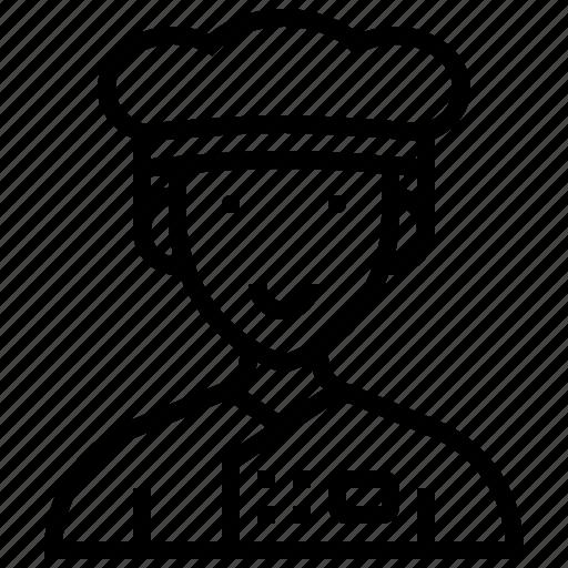chef, cook, cuisine, job, uniform icon