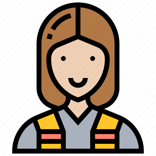 construction, electrician, engineer, female, technician icon