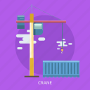 cargo, container, crane, delivery, hook, transport icon