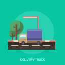 cargo, delivery, goods, street, transport, truck icon