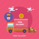 box, cargo, delivery, driver, free, package, truck icon