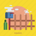 cactuss, cargo, delivery, fence, mail, mailbox icon