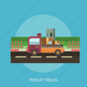 box, cargo, delivery, pickup, street, transport, truck icon