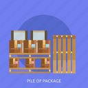 box, cupboard, delivery, package, pile icon