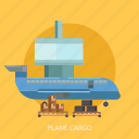 air, box, cargo, delivery, package, plane, transport icon