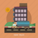 big, building, cargo, delivery, tank truck, truck icon