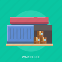 cargo, container, delivery, house, package, warehouse icon
