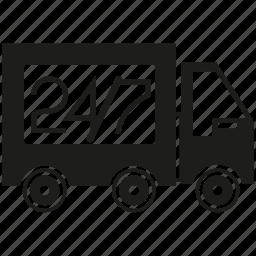 car, fast, truck icon