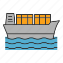 boat, cargo, ship, shipment, shipping, transport, vessel
