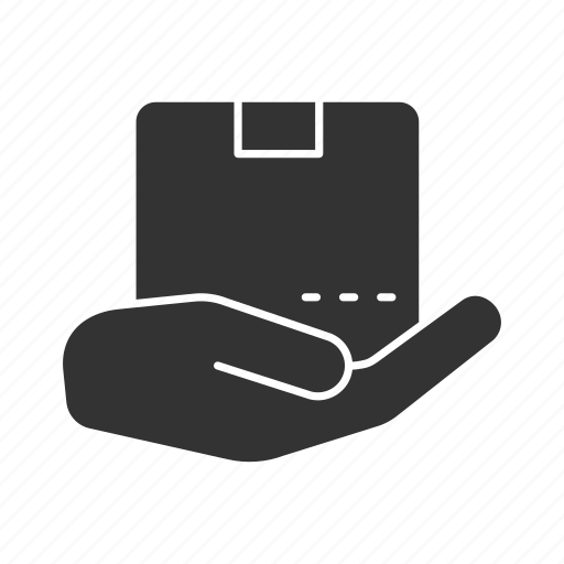 box, cargo, delivery, package, palm, parcel, shipping icon