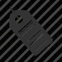 bar, bar code, barcode, code, id, label, tag icon