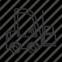 delivery, fork hoist, forklift, transport, truck, vehicle, warehouse icon