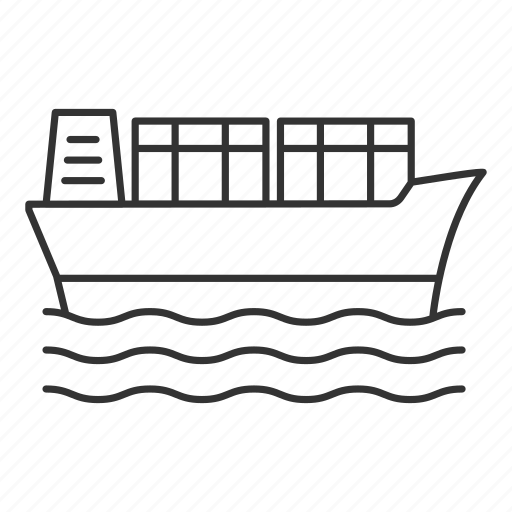 boat, cargo, ship, shipment, shipping, transport, vessel icon